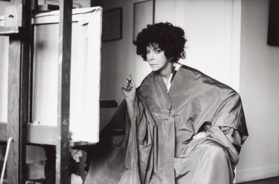 Leonor Fini in her studio, rue de La Vrillière, Paris, 1976, Karl Heinz Bast