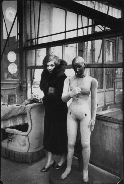 Leonor Fini, Paris, 1932, photography by Henri Cartier-Bresson