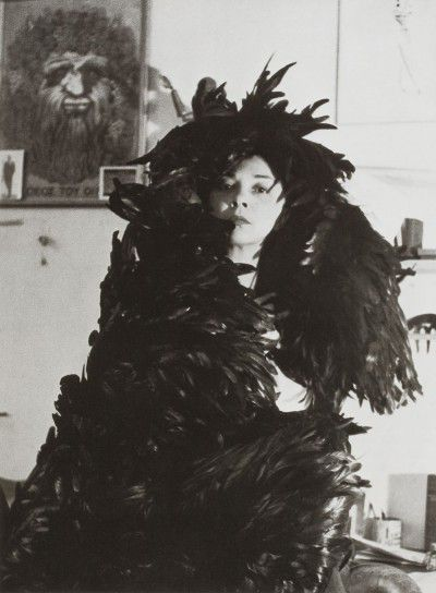 Leonor Fini in her studio, rue Payenne, Paris, 1946, photographie by Horst