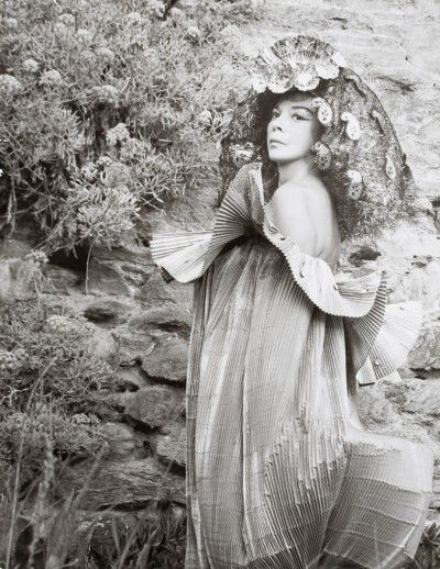 Leonor Fini at the monastery of Nonza, Corse, 1965, photography by Eddy Brofferio