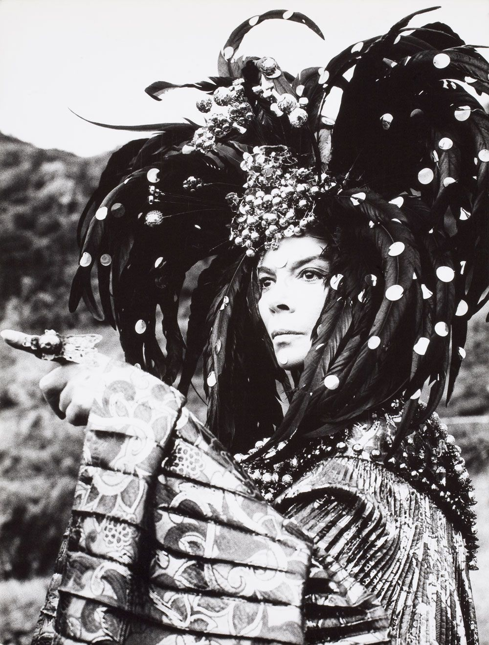 Leonor Fini at the monastery of Nonza, Corse, 1967, photography by Eddy Brofferio