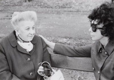 Malvina Fini et Leonor Fini at the Parc de Saint-Cloud, 1970, photography by Richard Overstreet