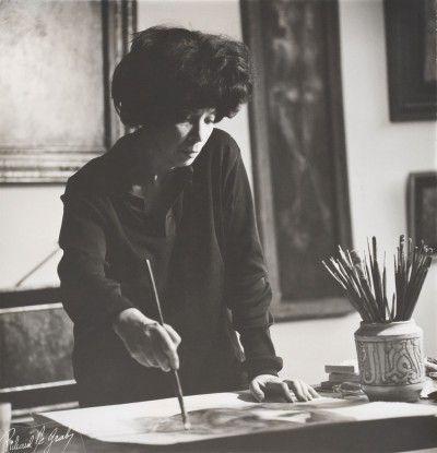 Leonor Fini, Paris, 1955, photographie de Roger Vadim